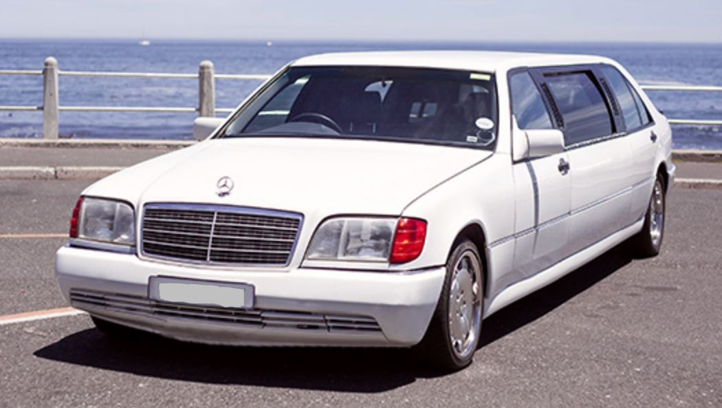 White limo front cape town
